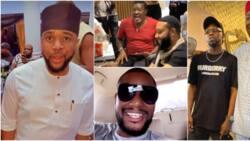 E-Money, Alexx Ekubo, other Igbo celebs storm Obi Cubana's village for mum's burial ceremony