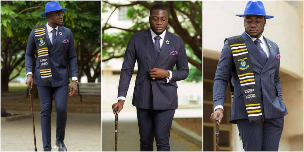 Yes, I did it - Ghanaian student celebrates as he graduates with law degree from Legon