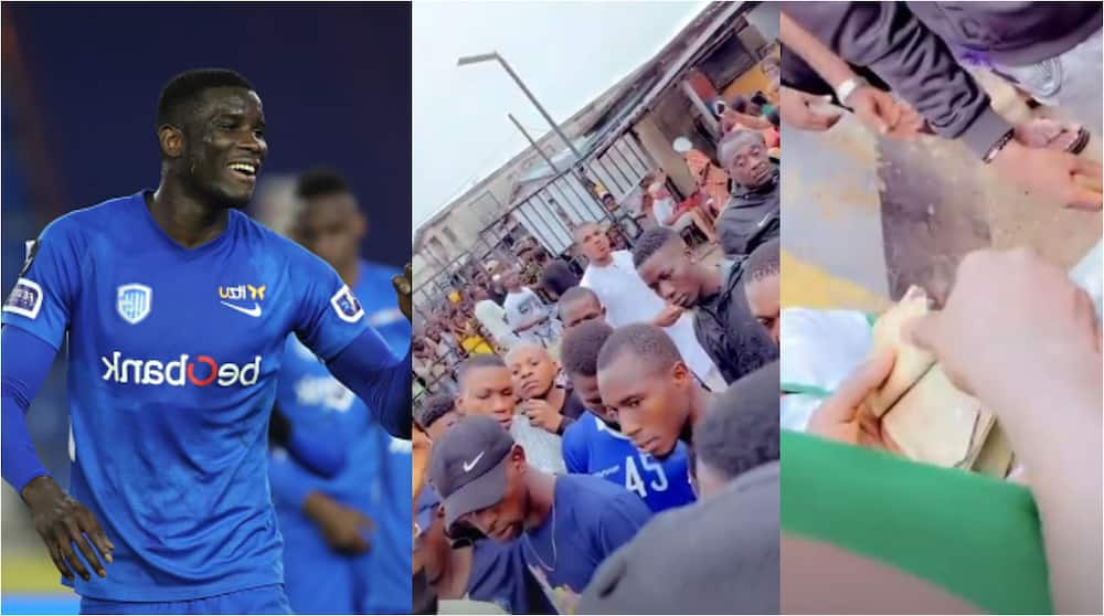 Amazing Gesture As Super Eagles Striker Returns to Where He Grew Up, Splashes Cash on Youths