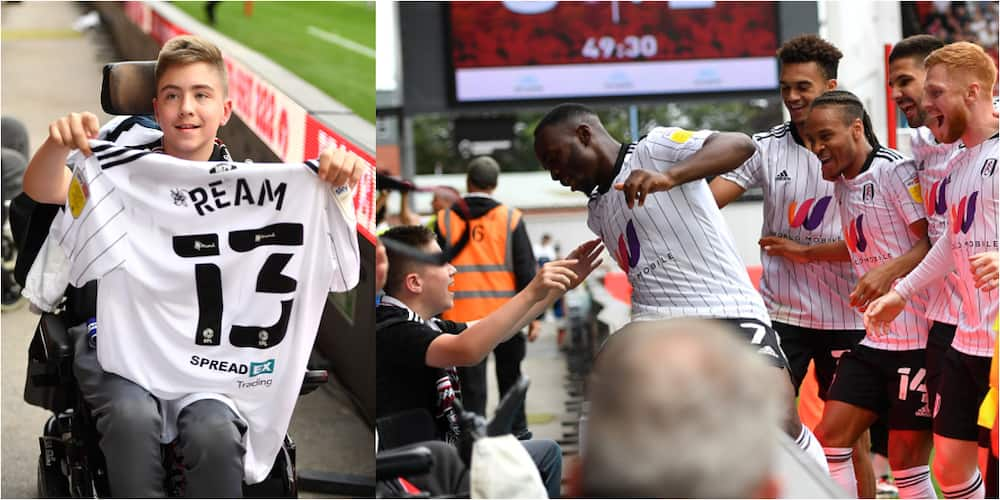 Beautiful moment players of top English club went to celebrate a goal with disabled boy bullied online