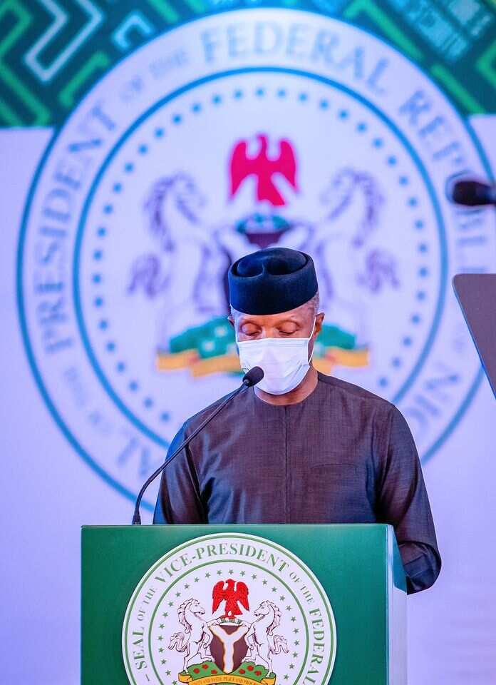 Nigeria's vice president, Yemi Osinbajo has blamed the deepening poverty in Nigeria on the COVID-19 pandemic. Photo credits: Buhari Sallau