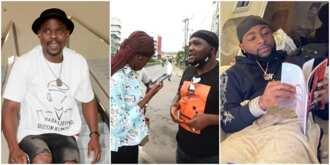 Mumu, Davido 'Knocks' Yomi Fabiyi As He Violates COVID-19 Protocols While Protesting for Baba Ijesha's Release