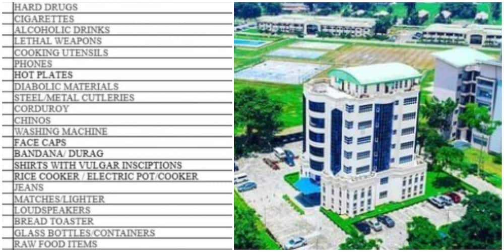 Reactions to trending list of prohibited items in Covenant university