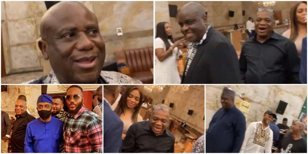 Terry Waya at 60: James Ibori, Orji Uzor Kalu, Other Politicians Grace Kiddwaya's Father's Birthday Dinner