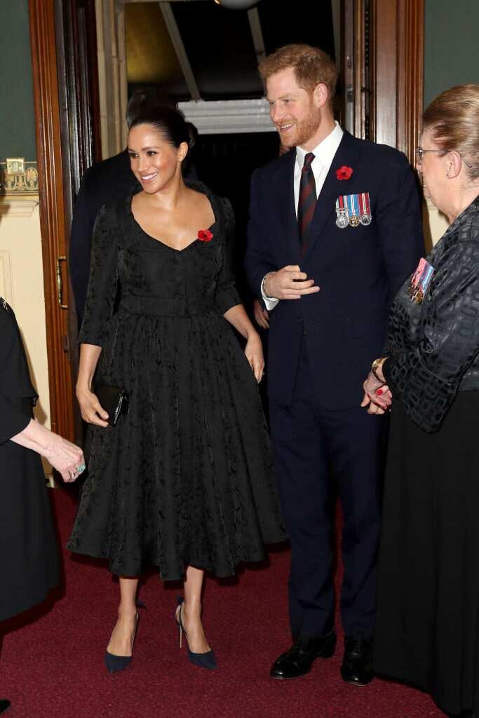 Meghan, duchesse de Sussex et le prince Harry, duc de Sussex assistent au festival annuel du souvenir de la Royal British Legion au Royal Albert Hall le 9 novembre 2019 à Londres, en Angleterre. (Photo de Chris Jackson - Piscine WPA)