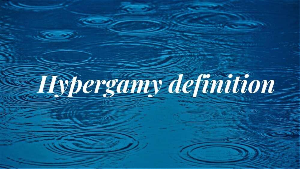 Hypergamy definition