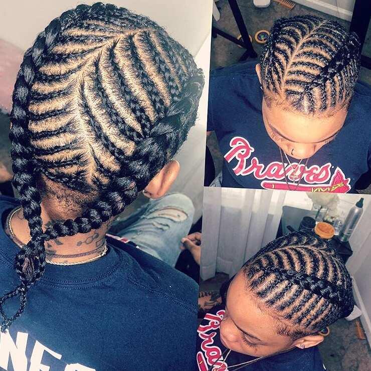 fishbone braids ideas