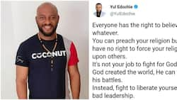 You have no right to force your religion on others, God can fight His battles, Yul Edochie says