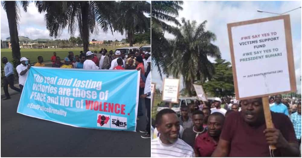 EndSARS: Heavy traffic in Rivers as pro-Buhari protesters take over Port Harcourt