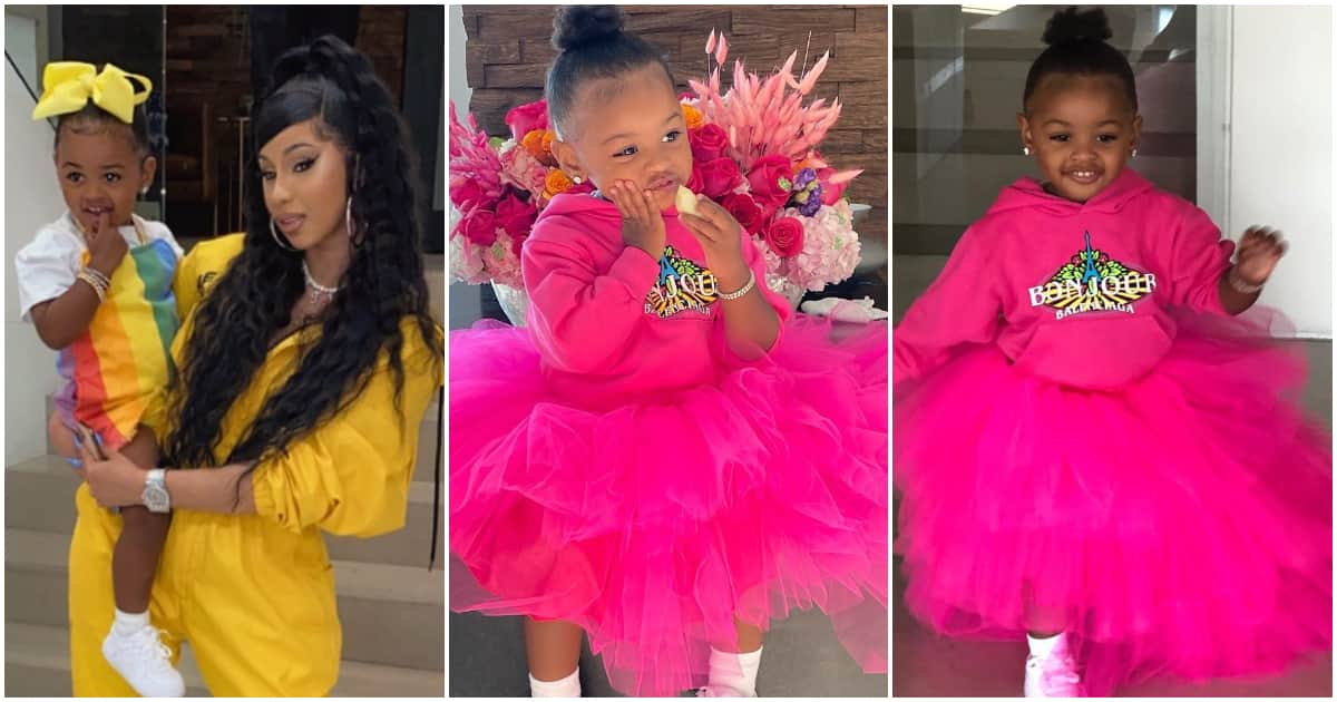Rapper Cardi B S Daughter Rocks 2nd Birthday In Lovely Pink Outfit
