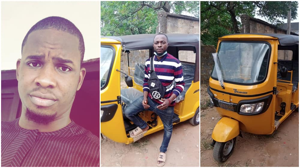 Man remembers bike man that used to him give free rides, buys him new tricycle, shares photos