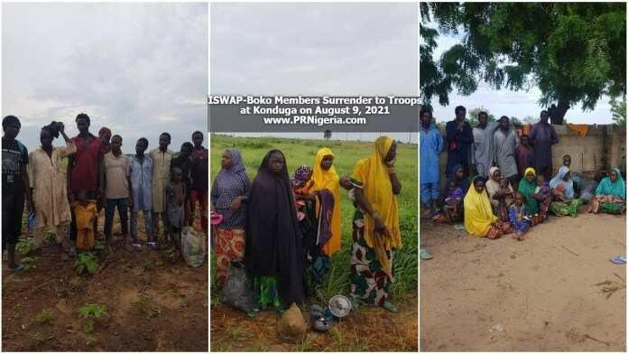 mayakan Boko Haram 14, mata da yara 31 sun sake mika wuya a Konduga