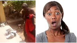 Elderly man caught with female underwear and soaked pad, see what angry mobs did to him (video, photos)