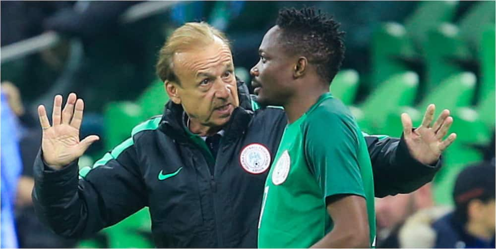 Super Eagles boss reveals why he played team captain Musa against Lesotho