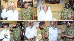 Photos show present condition of man who composed NYSC anthem, top Nigeria's military boss visits him