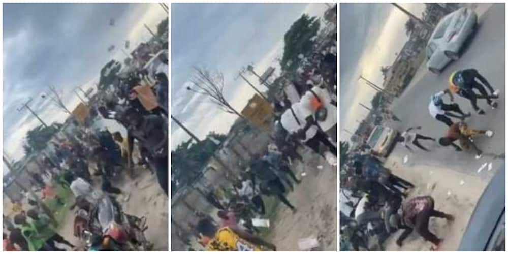 Reactions as Davido's former PA Aloma makes it rain on street as he throws wads of cash in the air