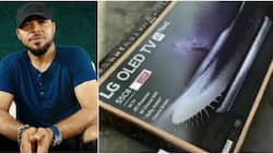 Ramsey Nouah calls out electronics brand after TV he purchased for close to N500k got damaged and they refused to fix it