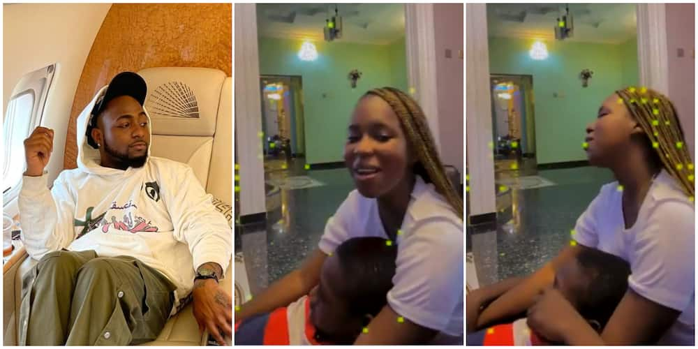 Davido mind-blown as lady and her little brother give beautiful rendition of his song with Nicki Minaj