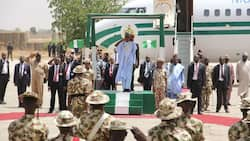 Buhari to frontline troops: There's a lot of work to be done in fighting insurgency
