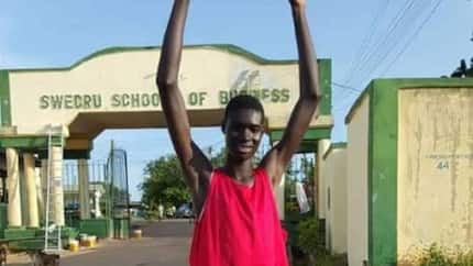 Remarkably tall 14-year-old Ghanaian student on his way to stardom as European university shows interest in him