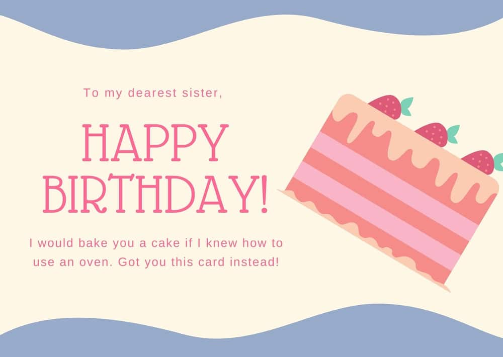 What should i write to my sister?