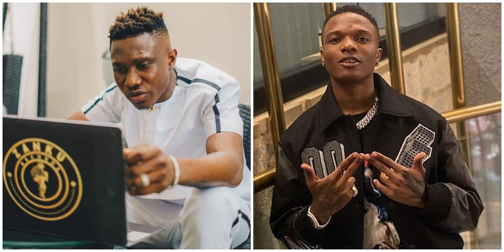 Twitter user gets 'knocked' for pleading with Zlatan to sign Wizkid to Zanku Records