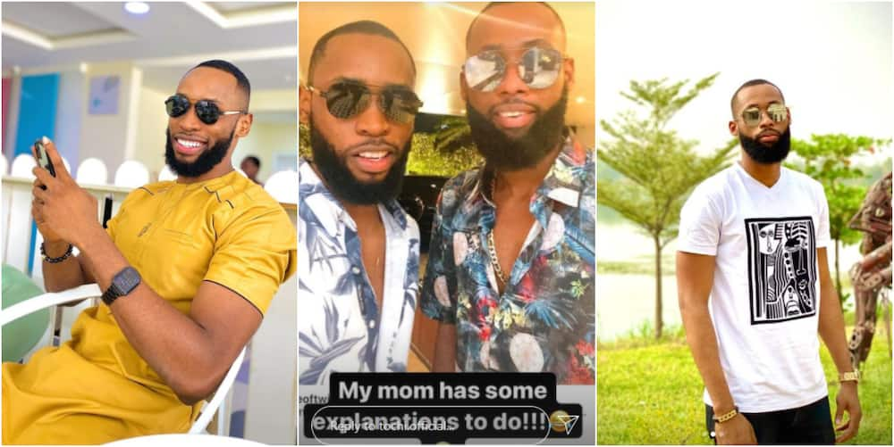 BBNaija 2021: My Mom Has Some Explanations To Do, Tochi Shares Photo Of Himself With Emmanuel