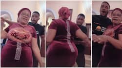 Tobi's mum is a spec: Fans gush over BBNaija star's mum as they admire her curvy figure in fun family video