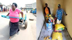 Massive joy as people open provision store for woman who went viral for pushing heavy jerrycans