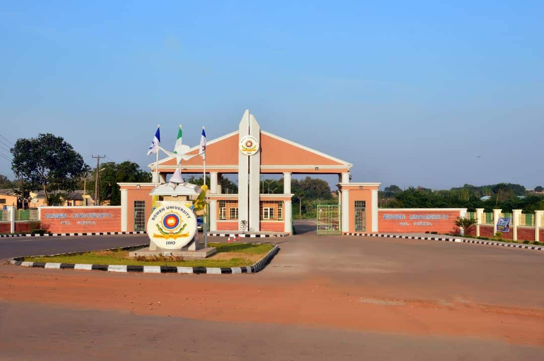 Bowen University Main Entrance. Photo: Legit.ng
