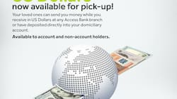Receive your International money transfer funds in dollars at branches nationwide - Access Bank