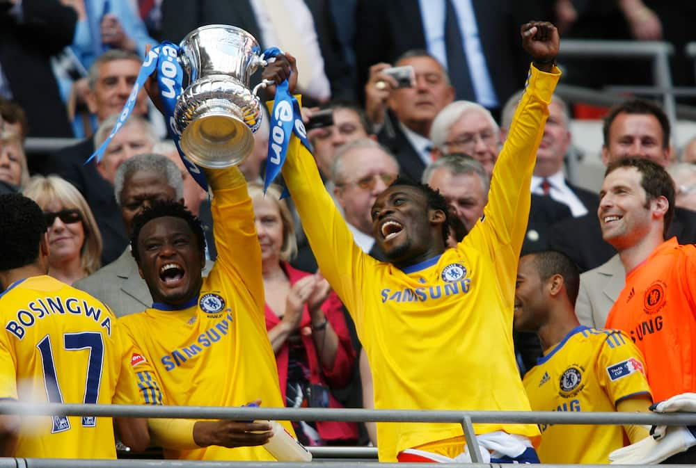 Mikel Obi and Essien
