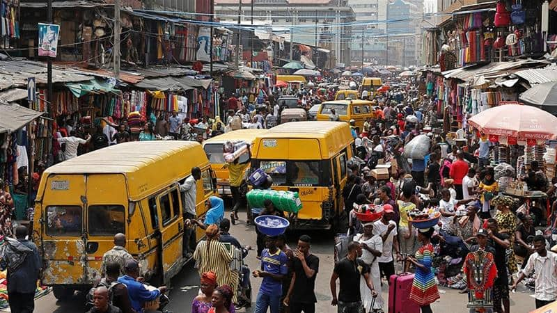 A picture showing a very busy scene in Lagos state. Photo source: Aljazeera