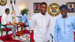 One week after meeting Governor Yahaya Bello, former Super Eagles captain Mikel Obi meets another governor