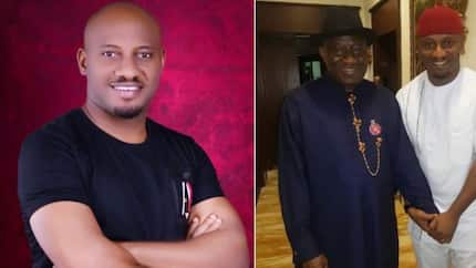 Yul Edochie visits Goodluck Jonathan in Abuja, reveals the former president told him he was Nigeria's hope (photos)
