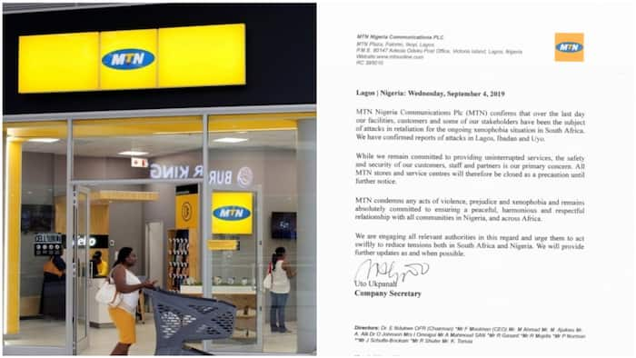 MTN closes shops nationwide following damage of its offices, writes official letter