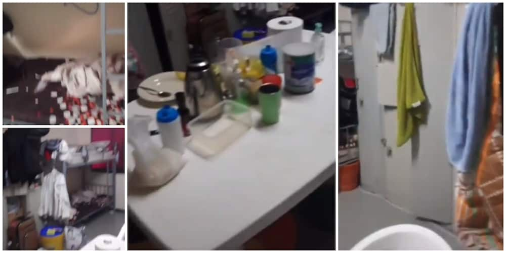 Social media reacts to video of apartment of Nigerian based in Dubai, bunk bed and rubber table was seen