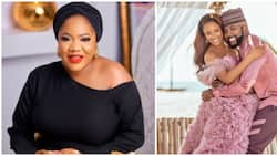 Toyin Abraham reacts as Adesua Etomi and Banky W open up about fertility struggles