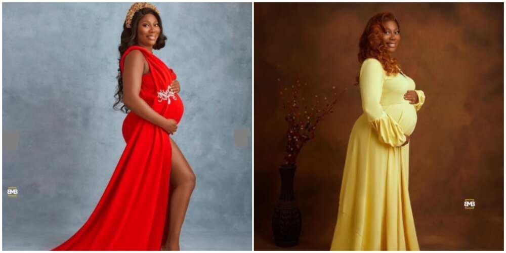 Adesua Etomi, Regina Daniels, X other Nigerian celebrities with gorgeous maternity photoshoot