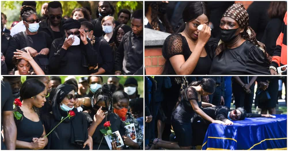 BBNaija's Khafi gives touching tribute to late brother Alexander, see heartbreaking photos from funeral