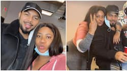 Nkechi Blessing shares beautiful photos with Ramsey Nouah on movie set
