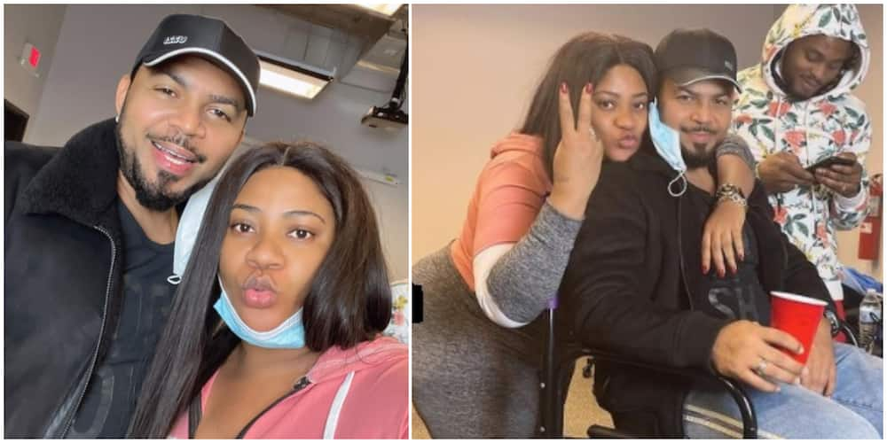 Nkechi Blessing shares cute photos with Ramsey Nouah, says 'he is a whole mood'