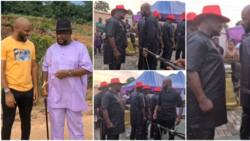 Baritone Battle: Nollywood actors Yul Edochie, Alex Usifo display their unique voices on movie set