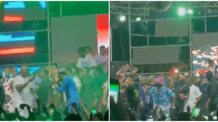 Obi Cubana: Davido, Dbanj turn funeral to music concert with energetic performances, crowd goes gaga