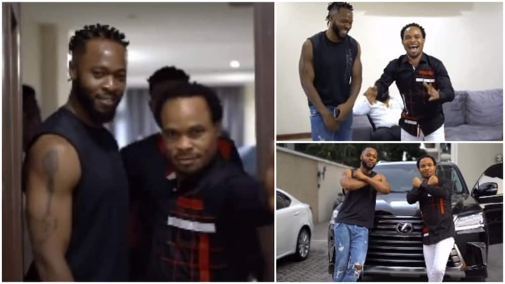 Fun video of Prophet Odumeje chilling with Flavour at the signer's home
