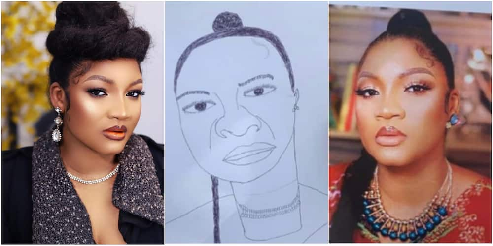 You'll be Locked Down: Omotola Jalade Blows Hot as Nigerian Artist Draws Her Portrait, Stirs Massive Reactions