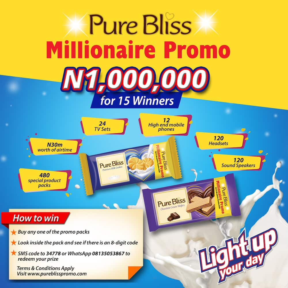 Pure Bliss to crown 15 lucky millionaires in a Brand-New Consumer Promotion