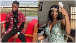 Rapper Lil Kesh spotted kissing Iyabo Ojo's daughter Priscilla, sparks dating rumours (photo, video)