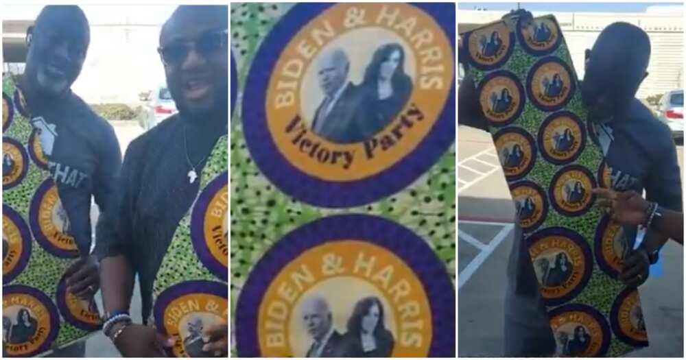 Checkout beautiful photos of colorful Aso-Ebi Nigerians designed for Joe Biden's inauguration