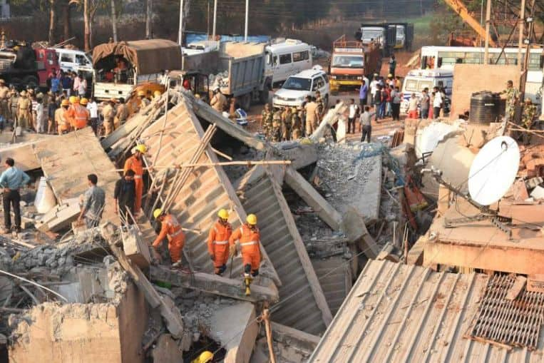 Man rescued after 62-hours under collapsed building in India